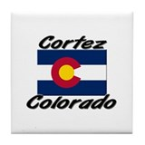 Cortez Colorado Tile Coaster