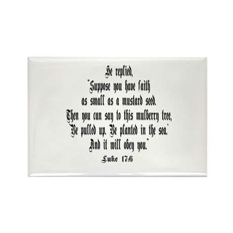 Luke 17:6 NIRV Rectangle Magnet (100 pack)