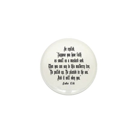 Luke 17:6 NIRV Mini Button