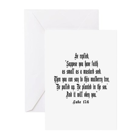 Luke 17:6 NIRV Greeting Cards (Pk of 20)