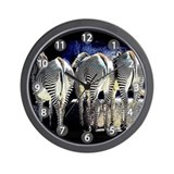 Zebra Butts Wall Clock