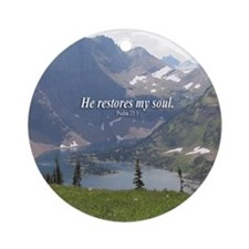 """Psalm 23"" Glacier Inspirational Ornament"