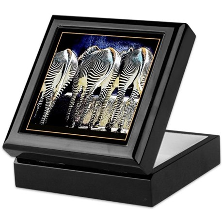 Zebra Butts Keepsake Box