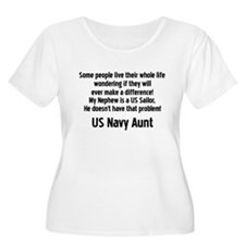 No Prob 4 Neph Navy Aunt T-Shirt