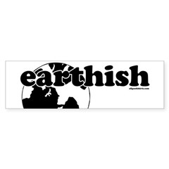 Earthish Bumper Sticker