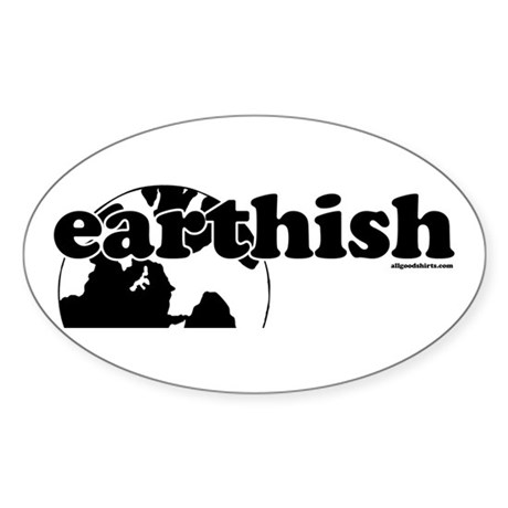 Earthish Oval Sticker