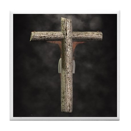 Crucified (Back View) Tile Coaster