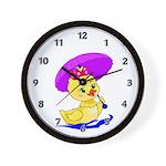 Baby Girl Duck Wall Clock