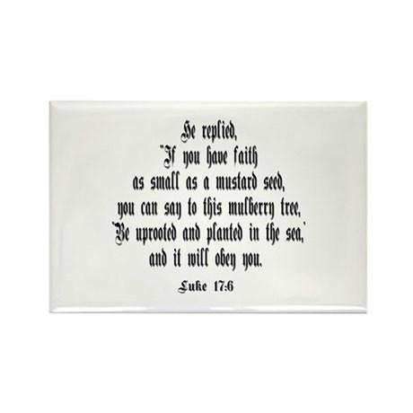 Luke 17:6 NIV Rectangle Magnet (100 pack)