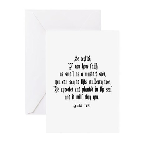 Luke 17:6 NIV Greeting Cards (Pk of 20)