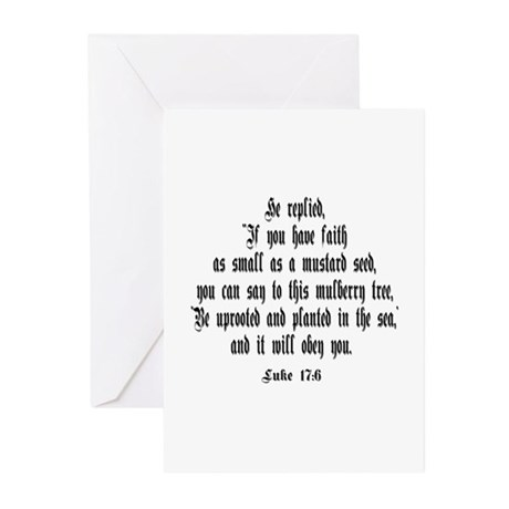 Luke 17:6 NIV Greeting Cards (Pk of 10)