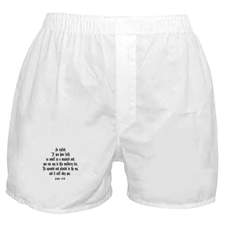 Luke 17:6 NIV Boxer Shorts