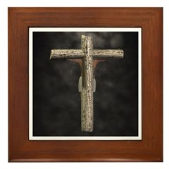 Crucified (Back View) Framed Tile