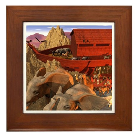 Out from the Ark Framed Tile