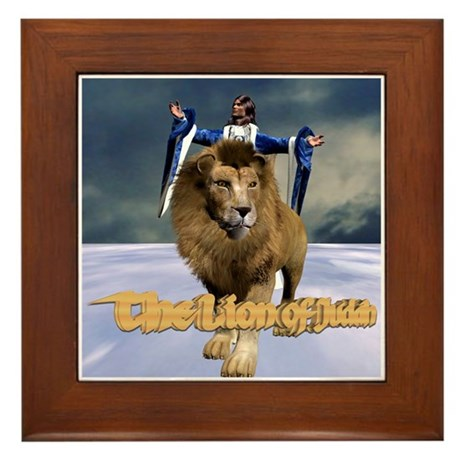 The Lion of Judah Framed Tile