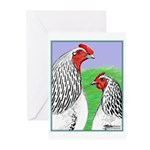 Columbian Cock and Hen Greeting Cards (Pk of 10)