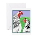 Columbian Cock and Hen Greeting Card