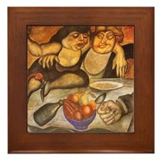 Orozco Banquet Rich Mural Art Detail Framed Tile