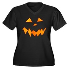 Jack O Laugh Women's Plus Size V-Neck Dark T-Shirt