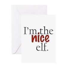Nice Elf Greeting Card