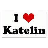 I Love Katelin Rectangle Decal