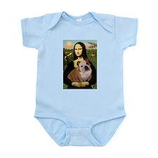 Mona Lisa & English Bulldog Infant Creeper
