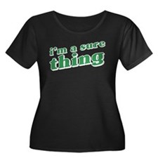 I'm a Sure Thing Women's Plus Size Scoop Neck Dark