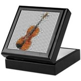 Violin / Fiddle Mosaic Keepsake Box