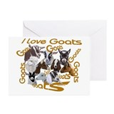I love Goat Breeds Greeting Cards (Pk of 10)