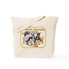 I love Goat Breeds Tote Bag