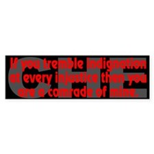 Che Guevara Quote: indignation - Bumper Bumper Stickers