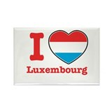 I love Luxembourg Rectangle Magnet (100 pack)