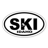 SKI Idaho Oval Decal
