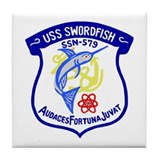 USS Swordfish (SSN 579) Tile Coaster