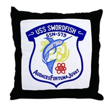 USS Swordfish (SSN 579) Throw Pillow