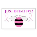 JUST BEE-LIEVE! Rectangle Sticker