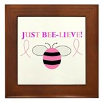 JUST BEE-LIEVE! Framed Tile