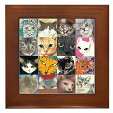 Foreclosure Cats Framed Tile