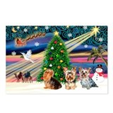 Xmas Magic & Yorki Postcards (Package of 8)