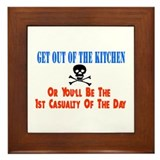 Out of the kitchen Framed Tile