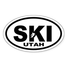 SKI Utah Oval Decal