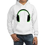 Green Shadow Headphones Hoodie