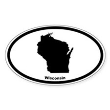 Wisconsin State Outline Oval Decal