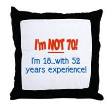 Cute 70 birthday Throw Pillow