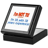 Funny 70th birthday Keepsake Box