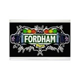 fordham (Black) Rectangle Magnet