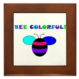 BEE COLORFUL Framed Tile