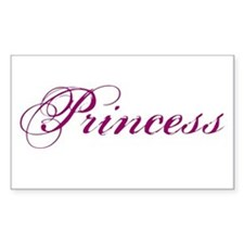 26. Princess Rectangle Decal