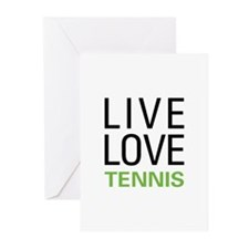 Live Love Tennis Greeting Cards (Pk of 10)