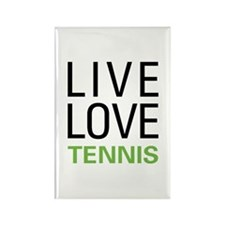 Live Love Tennis Rectangle Magnet (100 pack)